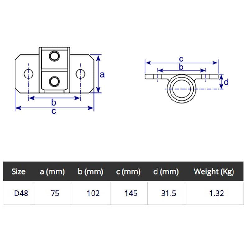 48mm Tube Clamp Set for long vertical scaffold tube technical specifications