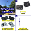 Shipping Container CCTV kit, 4m pole, no camera brackets