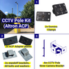 Shipping Container CCTV kit, 4m pole, 3 camera brackets