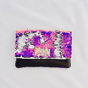 Iridescent Sequin Clutch