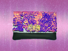 Load image into Gallery viewer, Iridescent Sequin Clutch