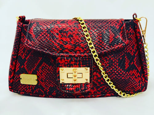Red Snake Clutch Mini