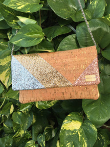 Rose Gold Cork Clutch