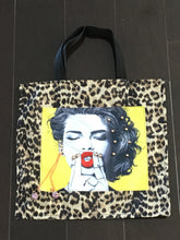 Load image into Gallery viewer, Leopard and Yellow Tote