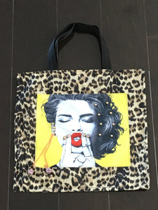 Leopard and Yellow Tote