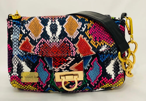 Multicolor Snake Mini Clutch