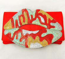 Load image into Gallery viewer, Sequin Lips Clutches