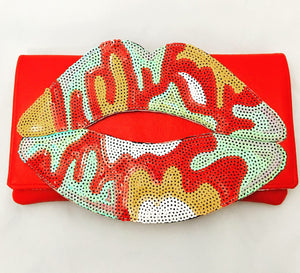 Sequin Lips Clutches