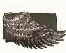 Load image into Gallery viewer, Black Angel Wing Clutch