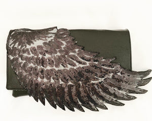 Black Angel Wing Clutch