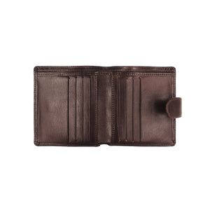 Bifold Wallet with Button Clasp