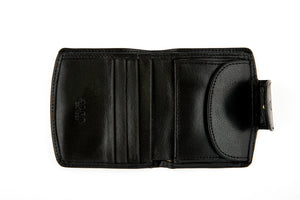 Small Bifold Wallet with Coin Holder & Button Clasp