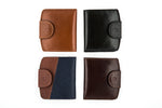 Load image into Gallery viewer, Small Bifold Wallet with Coin Holder & Button Clasp