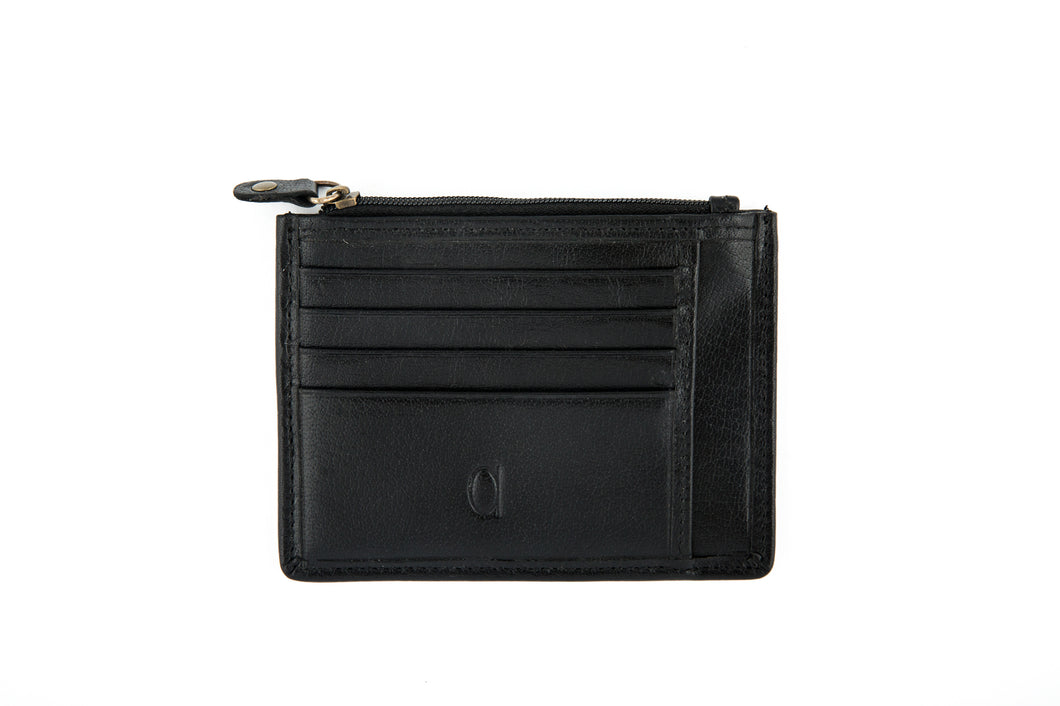Card Holder with Zipper Compartment