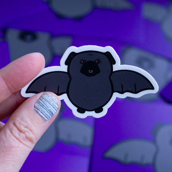 Batpug Sticker