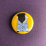 Cool Black Pug Button