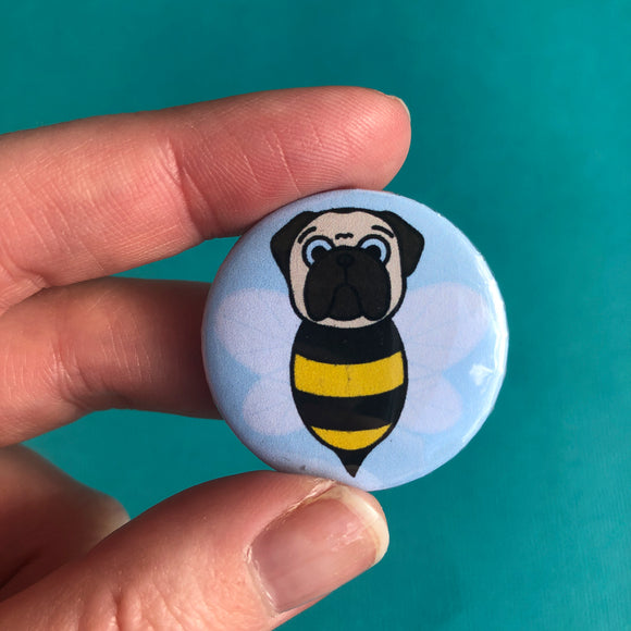 Fawn Bumblepug Button