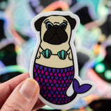 Fawn Merpug Sticker