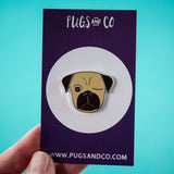 Fawn Pirate Pug Enamel Pin