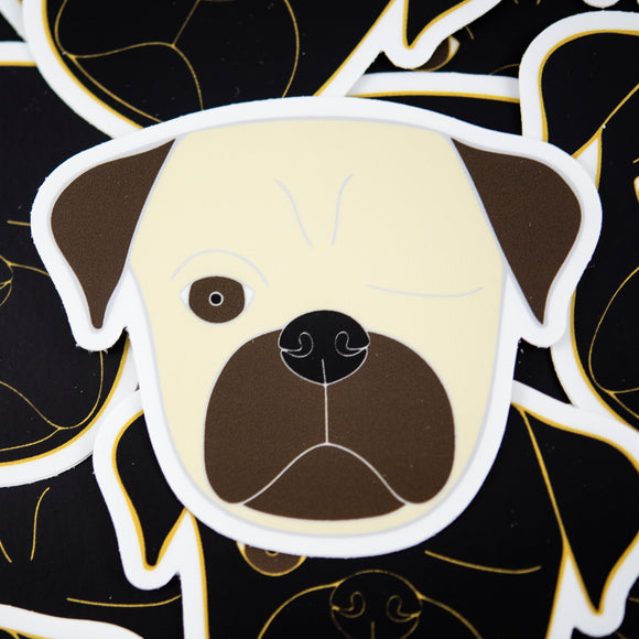 Fawn Pirate Pug Sticker