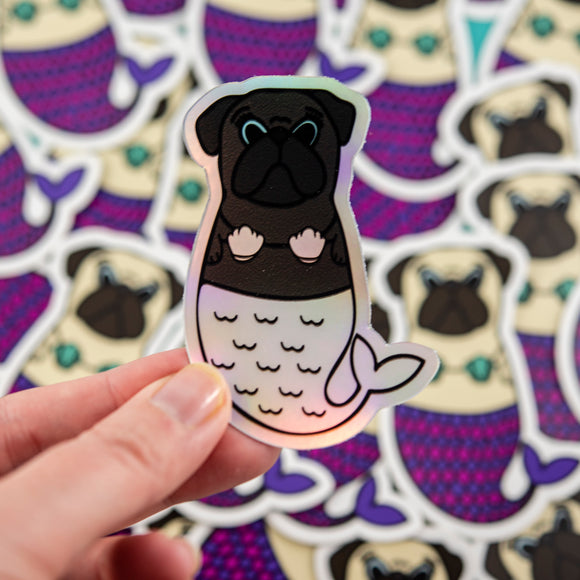 Holo Merpug Sticker