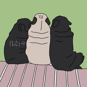 Pug Friends Wallpaper Pack