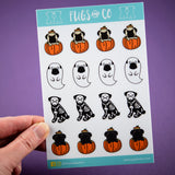 Pugoween Sticker Sheet
