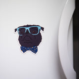 Dapper Black Pug Magnet