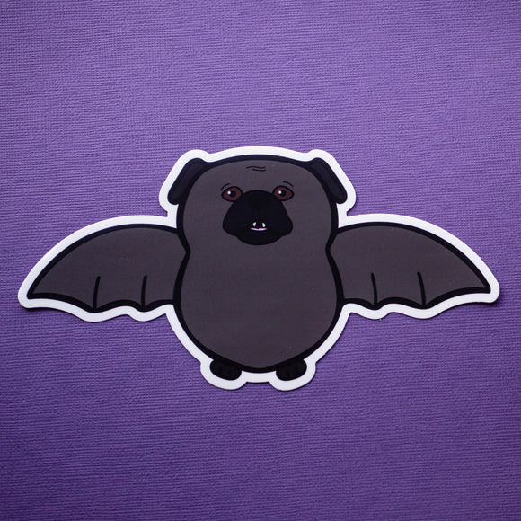 Batpug Bumper Sticker