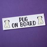 Fawn Pug on Board Bumper Sticker