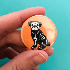 Skelo Pug Button