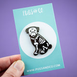 Skelo Pug Enamel Pin