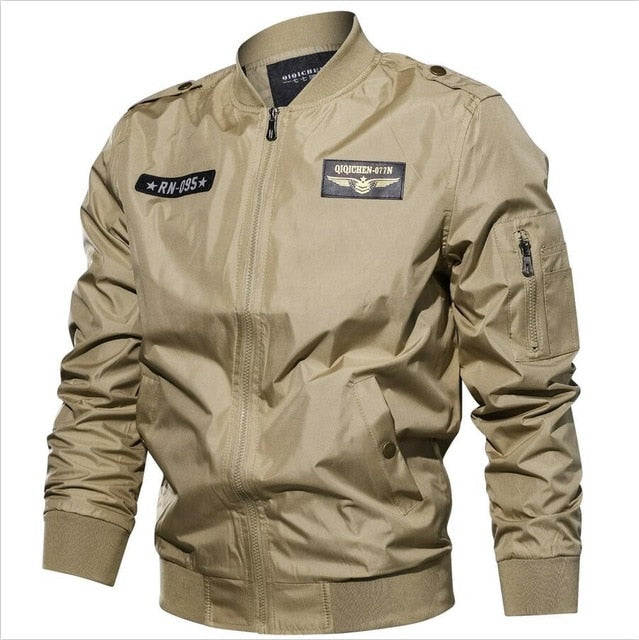 aed0bf7366a AFS JEEP New 2018 Spring Autumn Bomber Jacket Men windbreaker jacket Plus  Size M-6XL