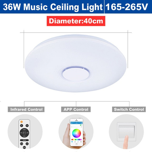 Ceiling Lights Lights & Lighting Modern Led Ceiling Lights Rgb Dimmable 25w 36w 52w App Remote Control Bluetooth Music Light Foyer Bedroom Smart Ceiling Lamp