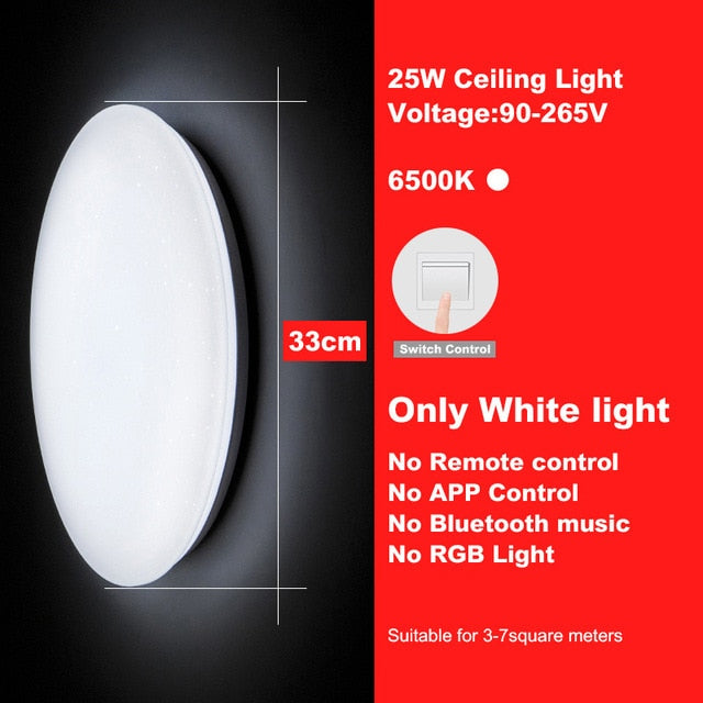 Modern Led Ceiling Lights Rgb Dimmable 25w 36w 52w App Remote Control Bluetooth Music Light Foyer Bedroom Smart Ceiling Lamp Lights & Lighting