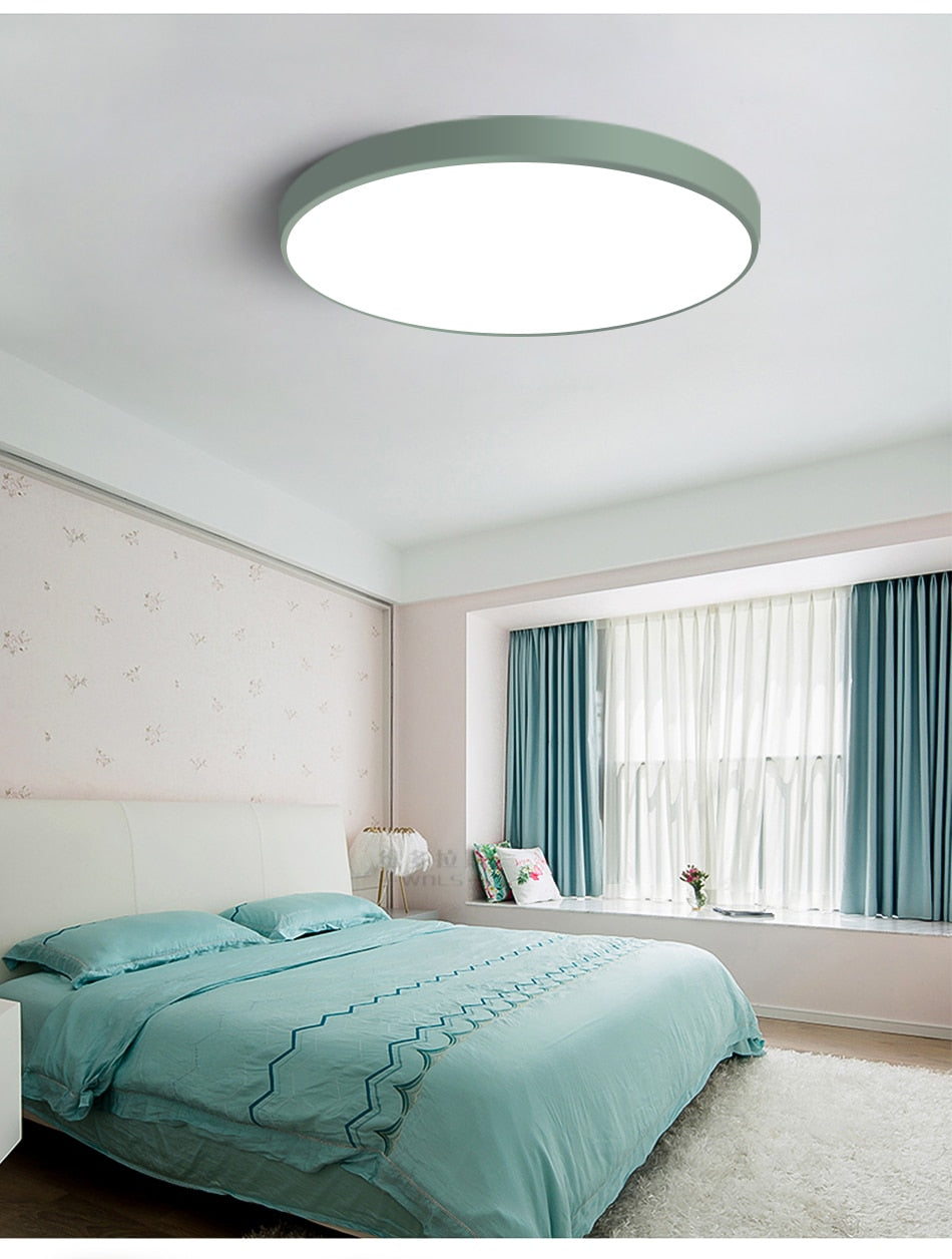 Ceiling Lights & Fans Modern Led Ceiling Light Dimmable Panel Lamp Lighting Fixture Living Room Bedroom Kitchen Surface Mount Flush Remote Control Ceiling Lights