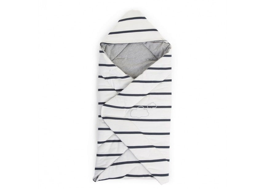 Baby Wrapper - Universal - Striped - Jersey Marin - Baby Prestige UK