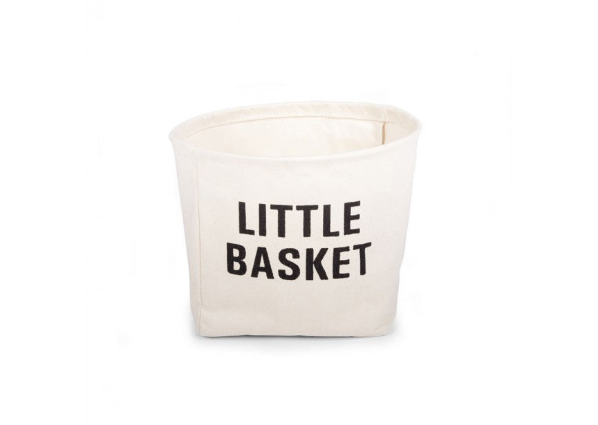 Small Cotton Toy Storage Basket with Various Captions - Baby Prestige UK