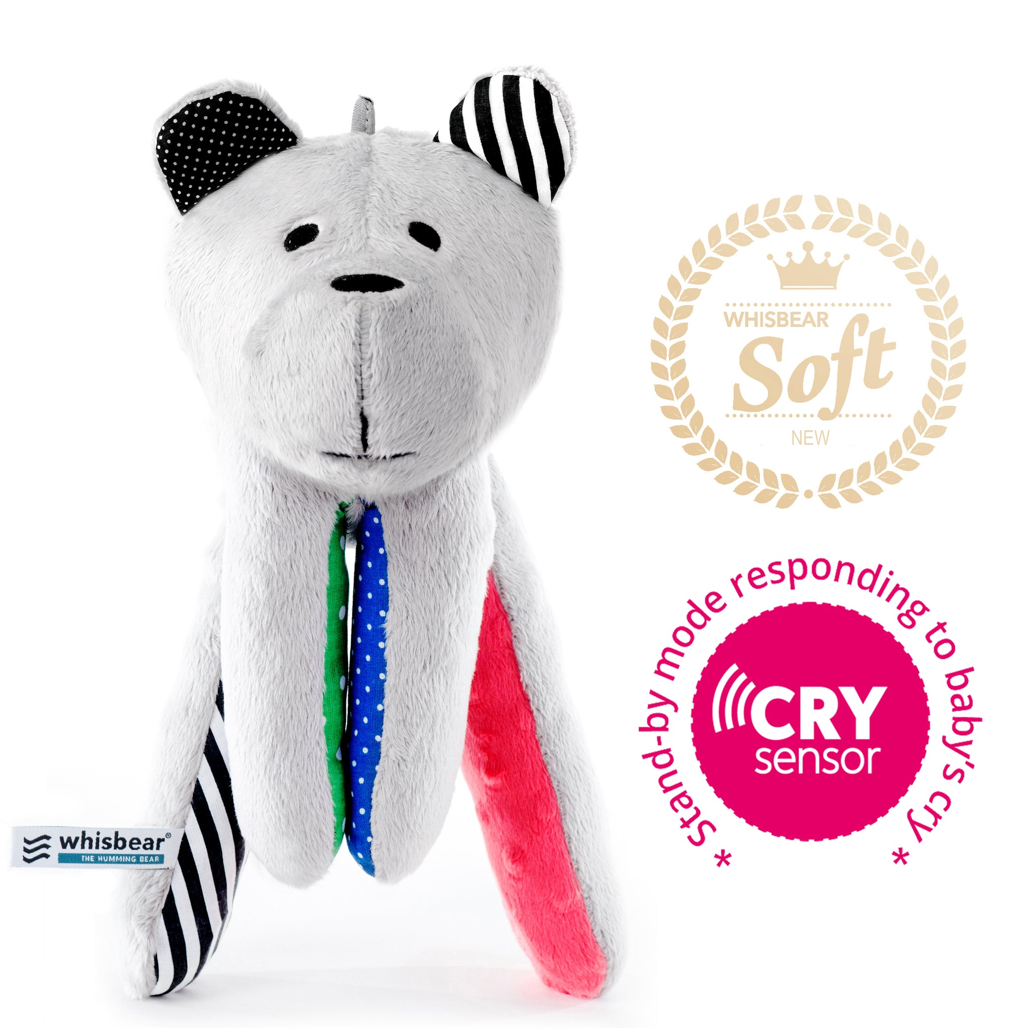 Whisbear - The Humming Bear with CRY sensor - Baby Prestige UK