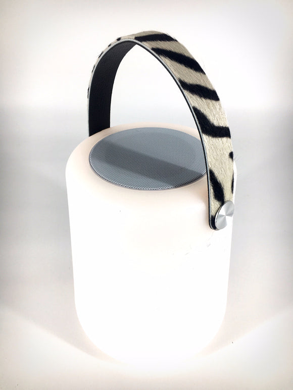 LIGHTSPEAKER big - Zebra Leather Handle