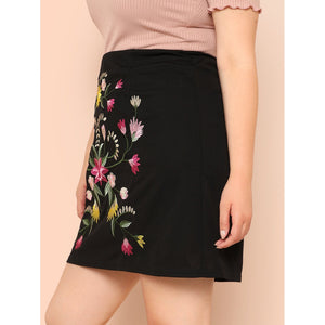 Botanical Embroidered Skirt