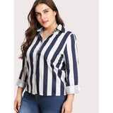 Contrast Striped Shirt