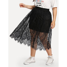 Eyelash Lace Overlay Skirt