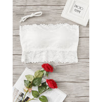 Lace Overlay Bandeau Bra