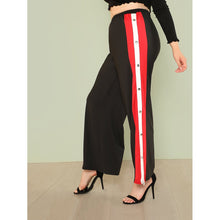 Buttoned Striped Sideseam Pants