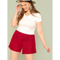 Elasticized Waist Shorts with Dual Pockets
