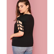 Caged Yoke Solid Tee