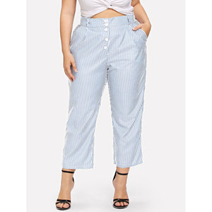 Contrast Panel Side Striped Pants