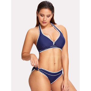 Crochet Trim Bikini Set