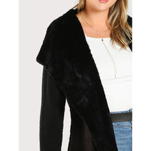 Faux Fur Lined Sweater BLACK